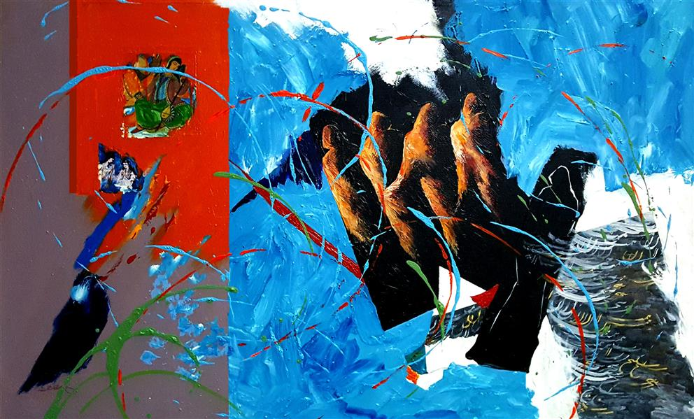 هنر نقاشی و گرافیک محفل نقاشی و گرافیک Abdolreza Rabeti  این اثر فیگوراتیو با عنوان مرور خاطرات با سایز ۸۰ × ۱۳۰ سانتیمتر بر روی بوم با تکنیک آکریلیک و کلاژ کار شده است.