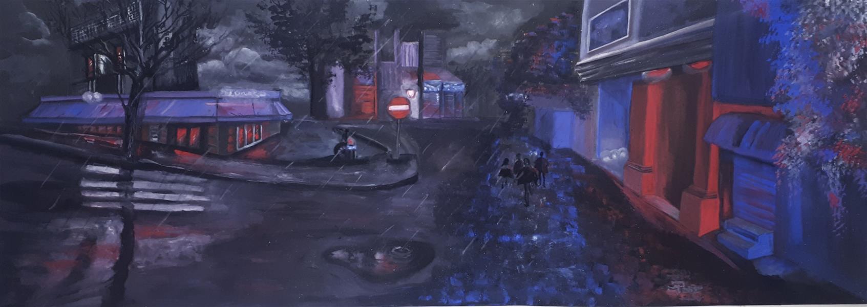 هنر نقاشی و گرافیک محفل نقاشی و گرافیک میترا خیری ۷۰ ×۲۵ تکنیک #گواش همراه با شاسی