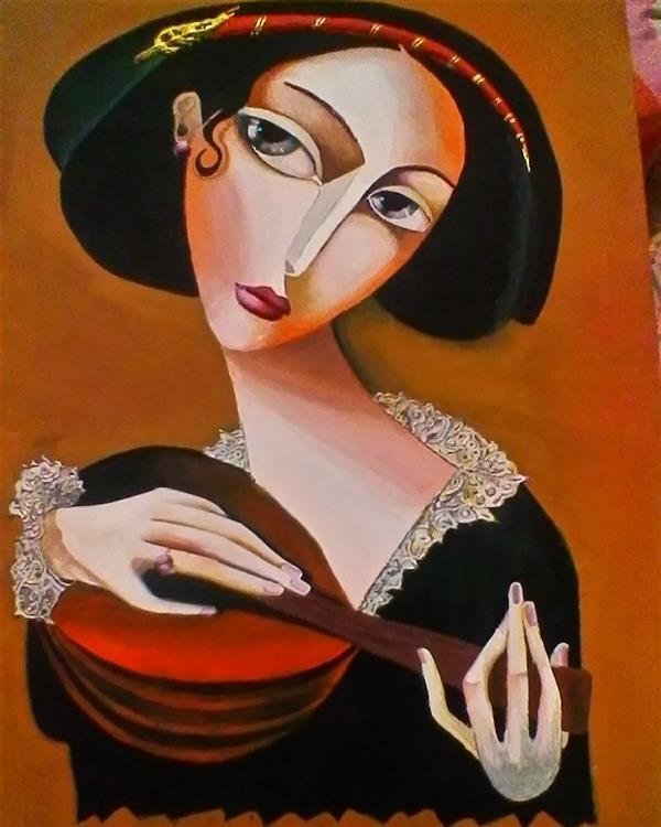 هنر نقاشی و گرافیک محفل نقاشی و گرافیک الهام آذر #کوبیسم #پنتل #گواش #نقاشی برجسته #ماندولین #cubist.paintingp #pentel #poster.color #mandolin