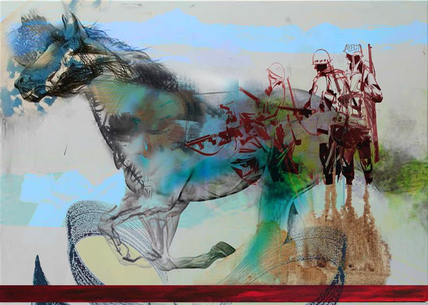 هنر نقاشی و گرافیک محفل نقاشی و گرافیک فرید قلی زاده ارنست کاسیررErnst Cassirer می گوید:(هر گاه مورد محسوس در بردارنده ی لایه های تو در توی معنایی شود، نماد خواهد بود). اسب نمادی است با دو درجه اهریمنی و اهورایی؛ که اسب سفید در مفهوم روشنی و نور است و سیاه بعنوان مرکب مرگ. اسب در آثار فرید قلی زاده یادآور رخش شاهنامه یا اسب های آئینی ایرانیان نیست، بلکه نماد روح است و از بلندپروازی او سرچشمه می گیرد. ایشان تلاش بر آن دارند که از ناملایمت ها و نامناسبتی های زیست آگاه و ناخودآگاه با ضربه قلم های احساسی، اسب های ذهنی، خطوط هدایت شونده، اثری بیانگرایانه خلق کند. اسب سپید و دیگری رنگین- با تنی خونین که گاهی خیر است و گاهی شر- ما را به غمنامه ای دعوت می کنند با ترکیب و تلفیق هیجانی ترشحات رنگی، بافت ها، سطوح انتزاعی و پیکره های انسان و اسب، گویا اینکه سرنوشت این دو از هم جدایی ناپذیر است. یورتمه رفتن یا دویدن اسب با سرعتی چنان که می خواهد از کادر تابلو بیرون بزند که ما را با مسئله ای مهم روبرو می کند؛ آشتی یا اینکه گریز از آن! #farid gholizadeh #عسب #اسب #فرید قلی زاده #عسب تورم باسن آزادی است