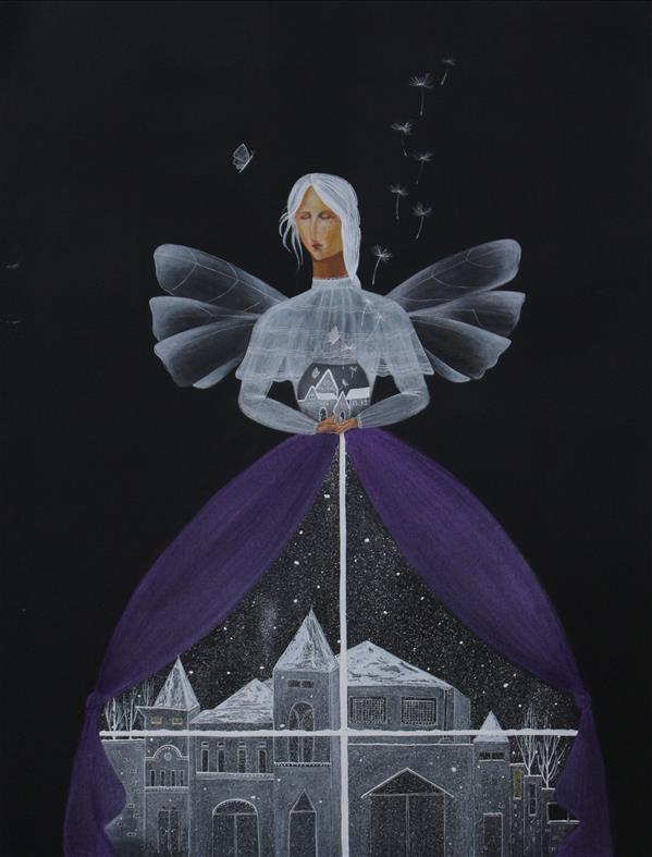 هنر نقاشی و گرافیک محفل نقاشی و گرافیک مهسا ساکت تبار نام اثر: فرشته تکنیک: پاستل گچی ، گواش ، آبرنگ اندازه:۳۵×۴۷