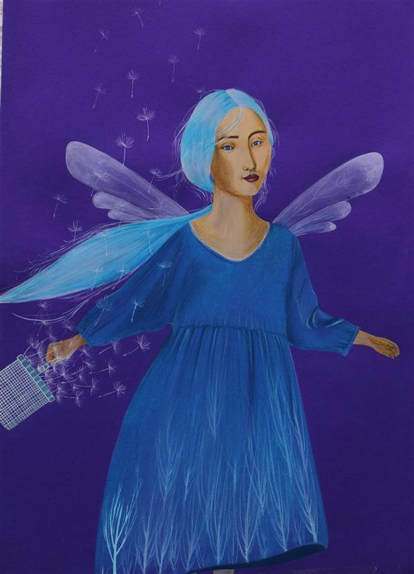 هنر نقاشی و گرافیک محفل نقاشی و گرافیک مهسا ساکت تبار نام اثر: فرشته تکنیک: پاستل گچی ، گواش ، آبرنگ اندازه: ۳۵×۵۰