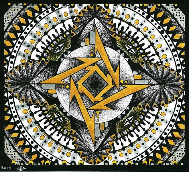 هنر نقاشی و گرافیک محفل نقاشی و گرافیک فاطمه بشیری نام اثر:متالیکا تکنیک: اکریلیک و خودکار سایز: 22.24 سبک: ماندالا