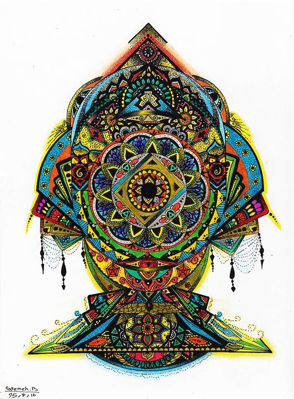 هنر نقاشی و گرافیک محفل نقاشی و گرافیک فاطمه بشیری نام اثر: ماهی رقصان تکنیک: مدادرنگی و راپید سایز: 30.21 سبک: ماندالا