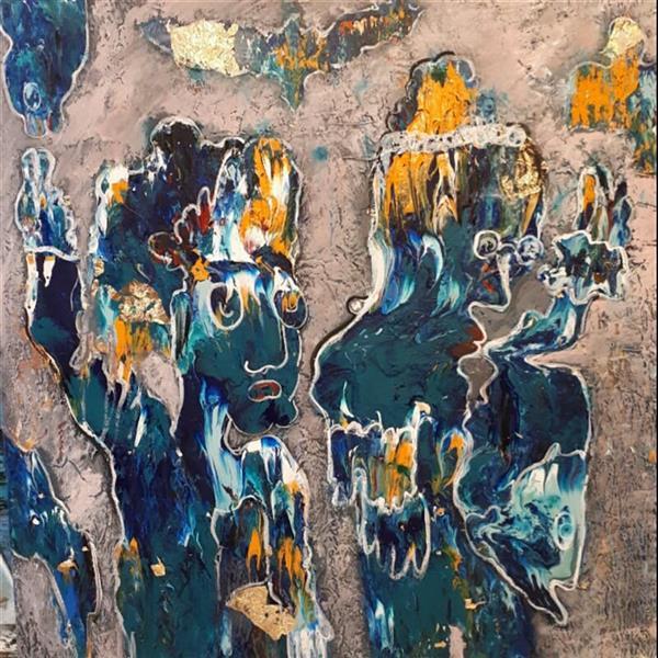 هنر نقاشی و گرافیک محفل نقاشی و گرافیک مهناز اکبری #تابلو_مدرن  #اکریلیک  ۸۰×۸۰cm
