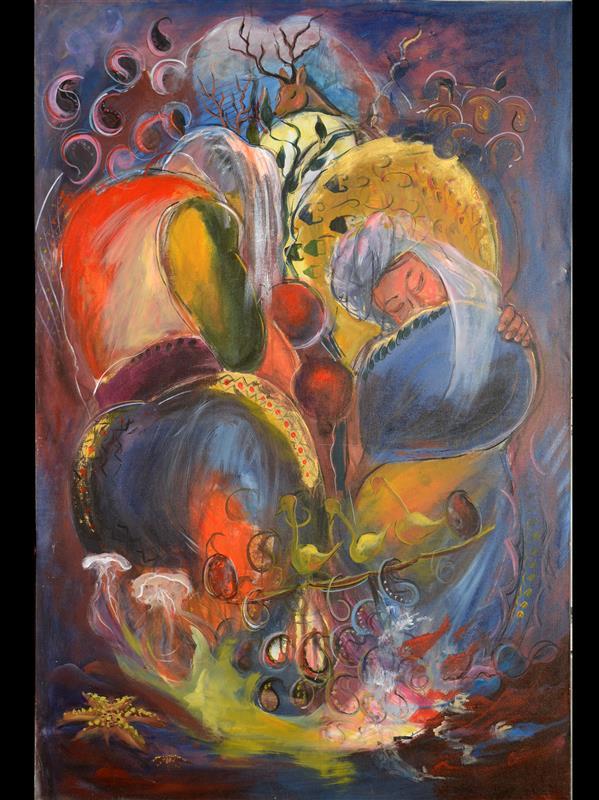 هنر نقاشی و گرافیک محفل نقاشی و گرافیک مهناز اکبری #مدرن  #اکریلیک #مهنازاکبری #رنگ_باران ۱۰۰×۱۵۰cm