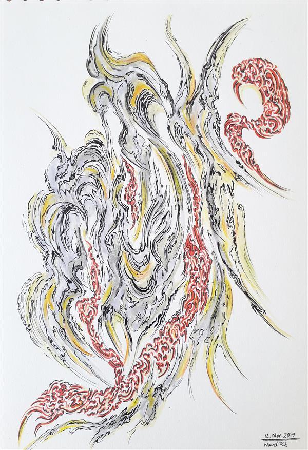 هنر نقاشی و گرافیک محفل نقاشی و گرافیک نوید خرمدل آبستره ابعاد: ۱۶*۲۴