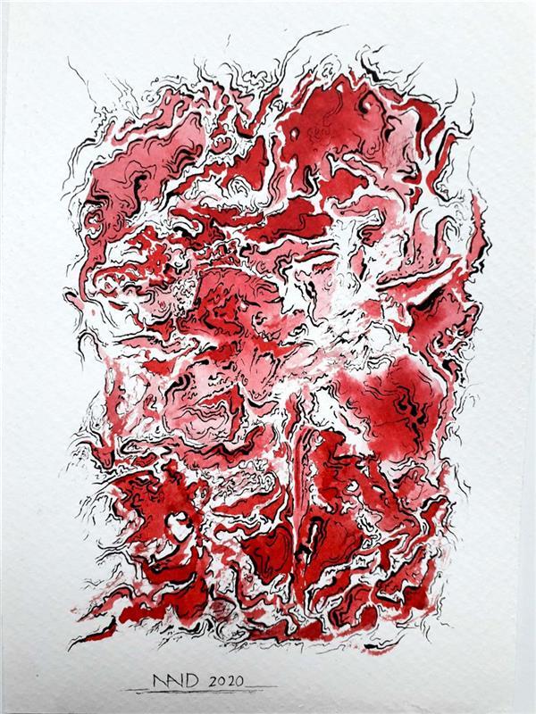 هنر نقاشی و گرافیک محفل نقاشی و گرافیک نوید خرمدل نام اثر : کابوس  تکنیک : اکولین و مرکب روی مقوا  سبک:آبستره اکسپرسیون سایز: ۱۲×۱۷ سانتیمتر  #abstract #abstraction #abstractexpresion  #آبستره