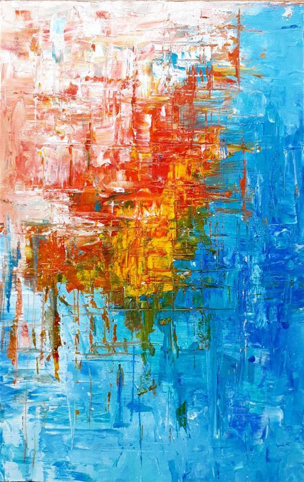 هنر نقاشی و گرافیک محفل نقاشی و گرافیک نوید خرمدل اندازه 20×30  اکرلیک روی بوم  #ابستره #انتزاعی #abstract
