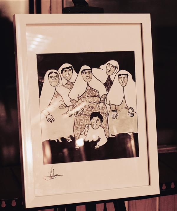 هنر نقاشی و گرافیک محفل نقاشی و گرافیک سوگند برهون تصویری از زنان قاجار