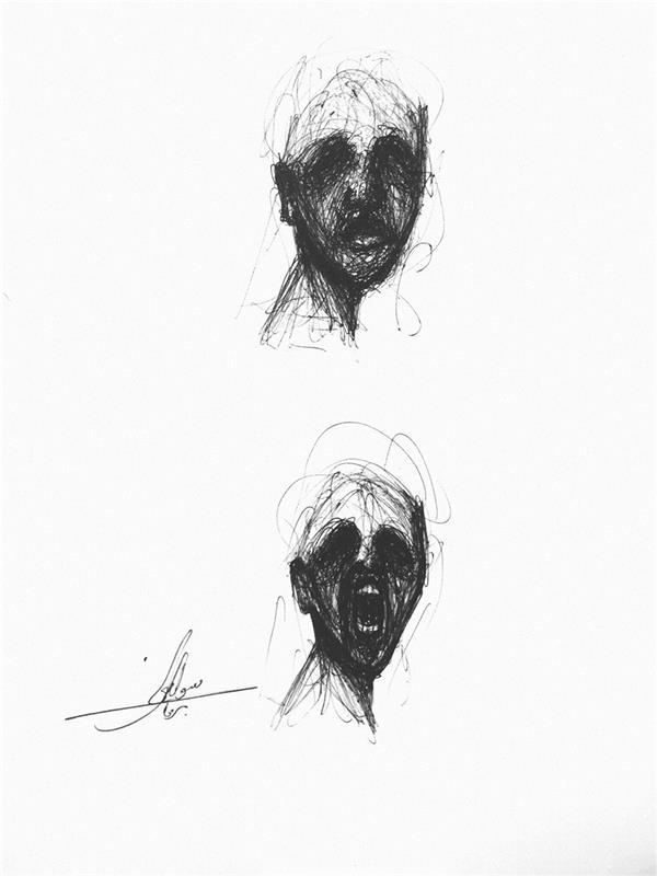 هنر نقاشی و گرافیک محفل نقاشی و گرافیک سوگند برهون تکنیک کار با خودکار