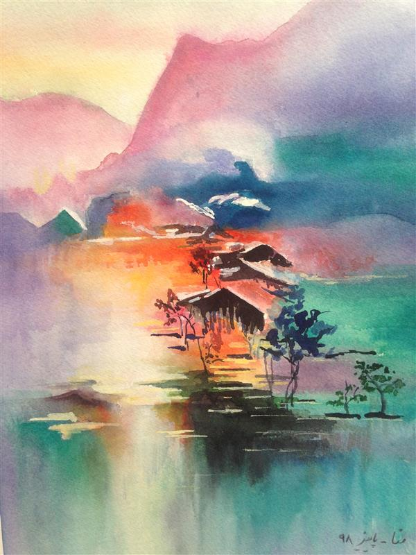 هنر نقاشی و گرافیک محفل نقاشی و گرافیک Mona loghmani آبرنگ،ابعاد ٢٠*٣٠