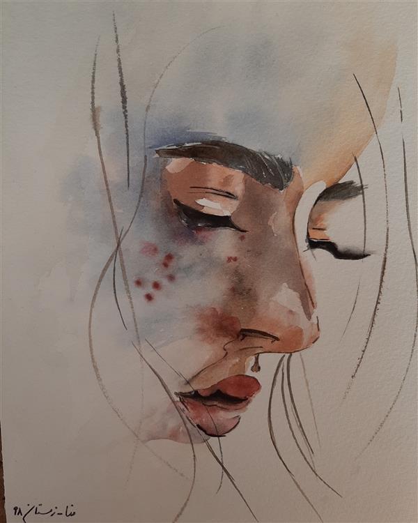 هنر نقاشی و گرافیک محفل نقاشی و گرافیک Mona loghmani آبرنگ،ابعاد۲۰×۳۰