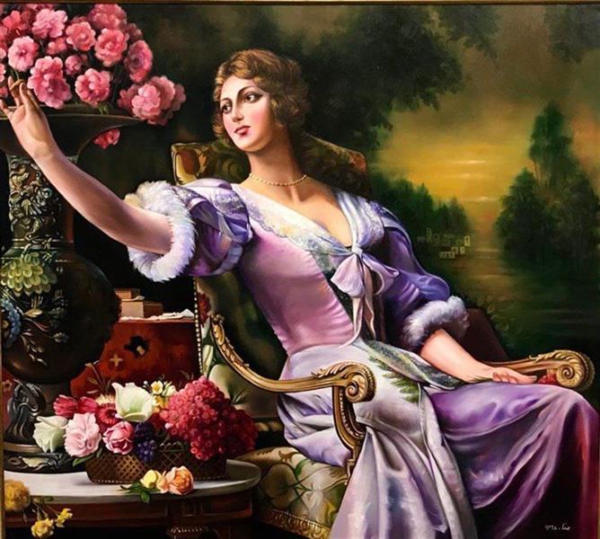 هنر نقاشی و گرافیک محفل نقاشی و گرافیک Mona loghmani تابلو رنگ روغن روی بوم،ابعاد ۱۰۰×۹۰