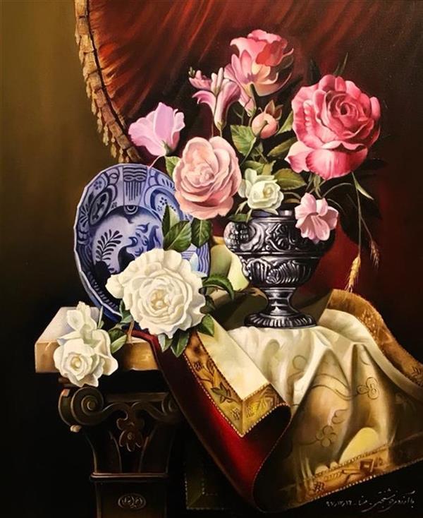 هنر نقاشی و گرافیک محفل نقاشی و گرافیک Mona loghmani تکنیک رنگ روغن،ابعاد٤٠*٥٠