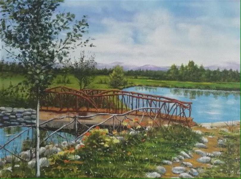 هنر نقاشی و گرافیک محفل نقاشی و گرافیک Mona loghmani نقاشى رنگ روغن روى بوم،ابعاد٥٠*٧٠