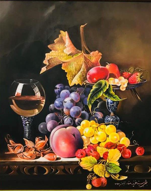 هنر نقاشی و گرافیک محفل نقاشی و گرافیک Mona loghmani نقاشى رنگ روغن روى بوم،ابعاد ٥٠*٦٠