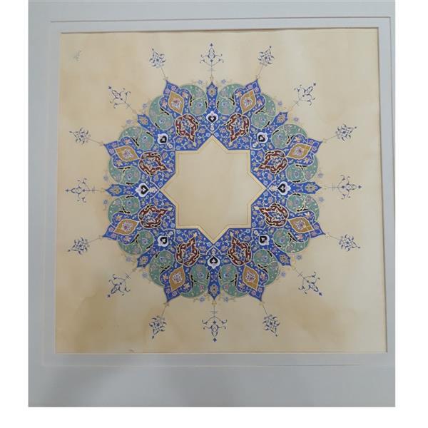 هنر نقاشی و گرافیک محفل نقاشی و گرافیک مریم بابایی #تذهیب  #سایز 60 در 60 cm