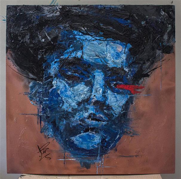هنر نقاشی و گرافیک محفل نقاشی و گرافیک امیرحسین کردستانی سایز:۶۰×۶۰ #پرتره#آبستره#رنگ_روغن#اکریلیک#بوم#امپرسیونیسم#نقاشی#paint