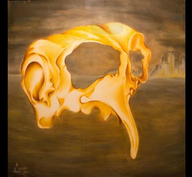 هنر نقاشی و گرافیک محفل نقاشی و گرافیک seyed mehdi kamyab sharifi the mask. oil on canvas. 100x100 cm