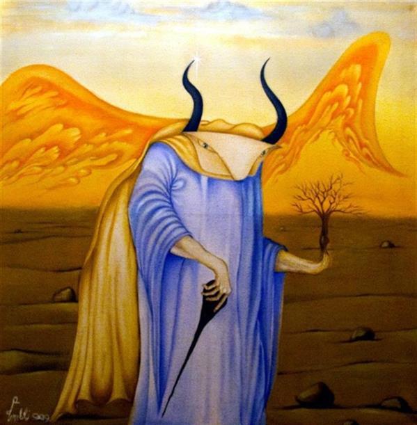 هنر نقاشی و گرافیک محفل نقاشی و گرافیک seyed mehdi kamyab sharifi abraxas. oil on canvas. 100x100 cm