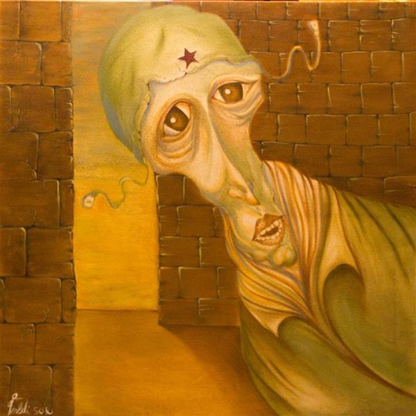 هنر نقاشی و گرافیک محفل نقاشی و گرافیک seyed mehdi kamyab sharifi soldier.2001.oil on canvas.mehdi sharifi.