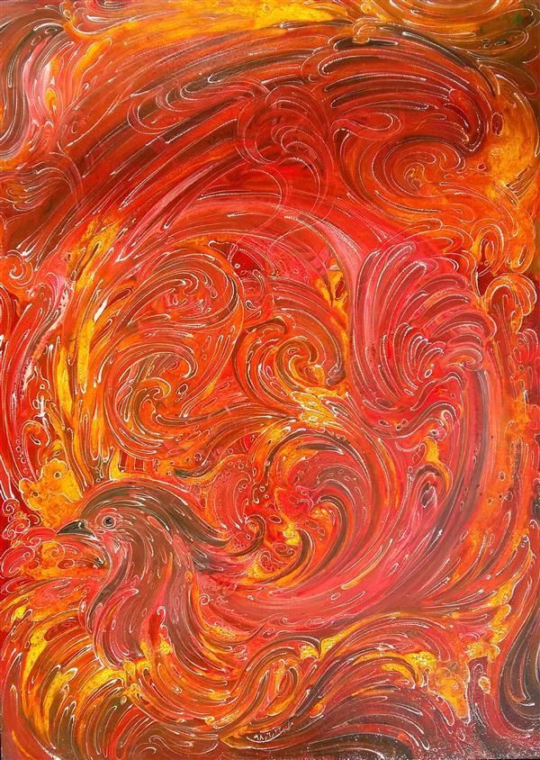 هنر نقاشی و گرافیک محفل نقاشی و گرافیک محمد ابراهیم مرادی  اکرولیک روی فیبر  53در 38