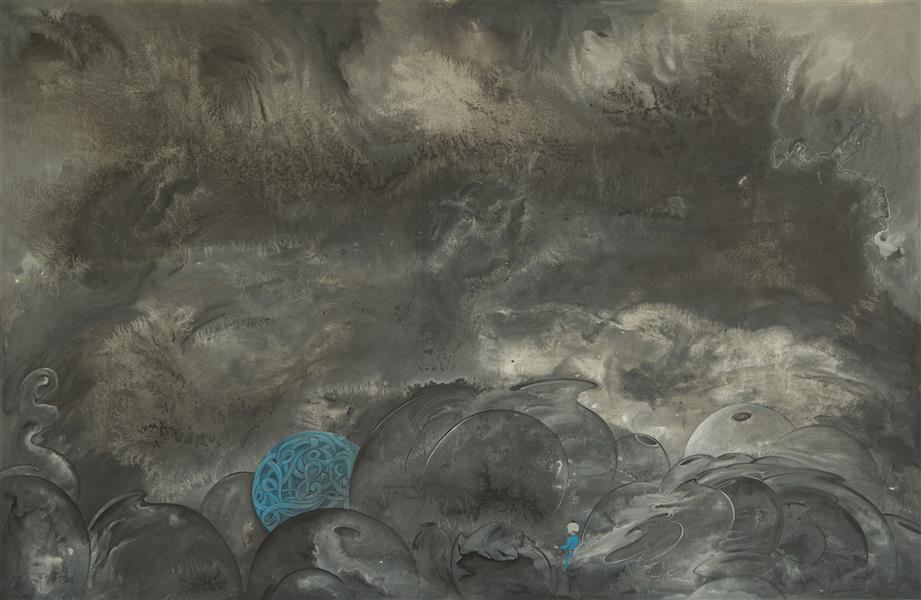 هنر نقاشی و گرافیک محفل نقاشی و گرافیک محمد ابراهیم مرادی  از مجموعه کوزه ها  شماره 1  اکرولیک روی بوم  100×100سانتیمتر