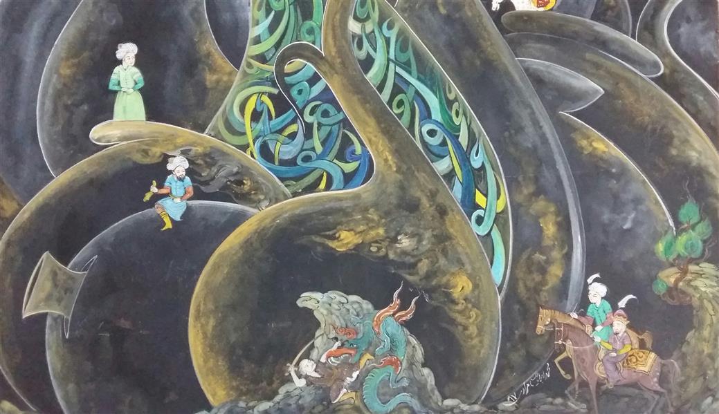 هنر نقاشی و گرافیک محفل نقاشی و گرافیک محمد ابراهیم مرادی  از مجموعه کوزه ها شماره 3  اکرولیک روی فیبر  90×40سانتیمتر