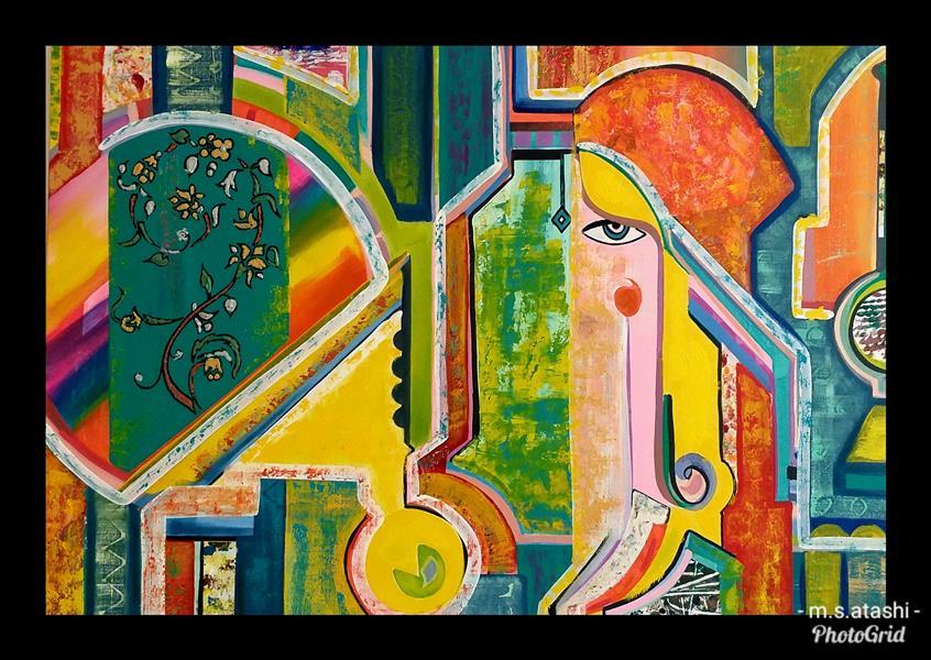 هنر نقاشی و گرافیک محفل نقاشی و گرافیک مریم سادات آتشی #اکرلیک و #کلاژ ، ابعاد ۵۰.۷۰