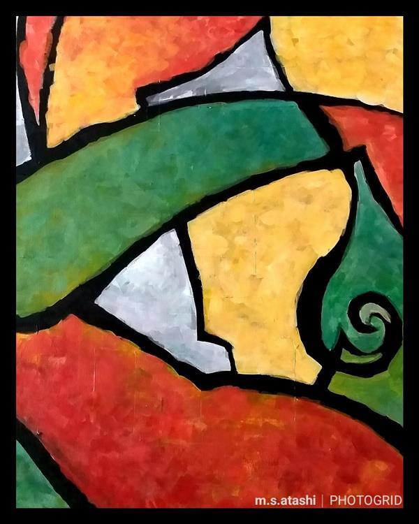 هنر نقاشی و گرافیک محفل نقاشی و گرافیک مریم سادات آتشی #نقاشی_مدرن #اکرلیک #ابعاد ۴۰.۵۰#اتود از خودم ، یه سبک آزاد بدون وجود خطوط صاف  که یه حس راحتی و آزادی رو القا میکنه
