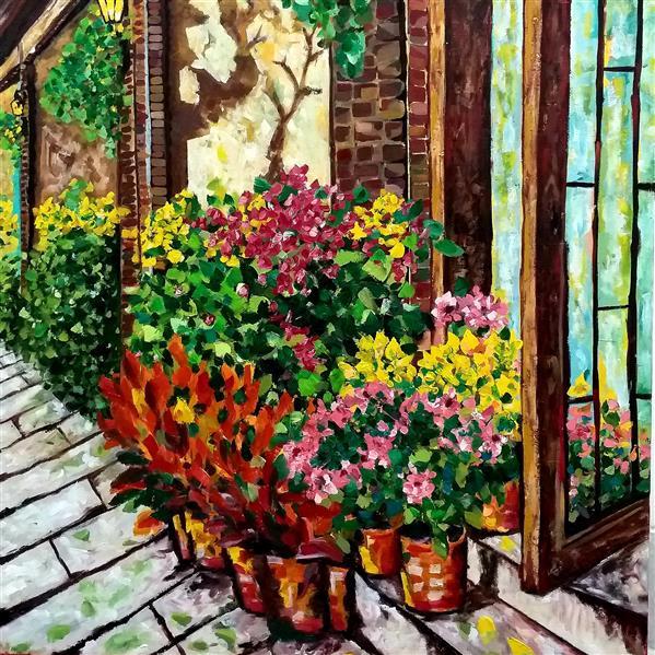 هنر نقاشی و گرافیک محفل نقاشی و گرافیک مریم سادات آتشی رنگ روغن روی بوم ، ۵۰.۷۰ سانتیمتر ، امپرسیونیسم