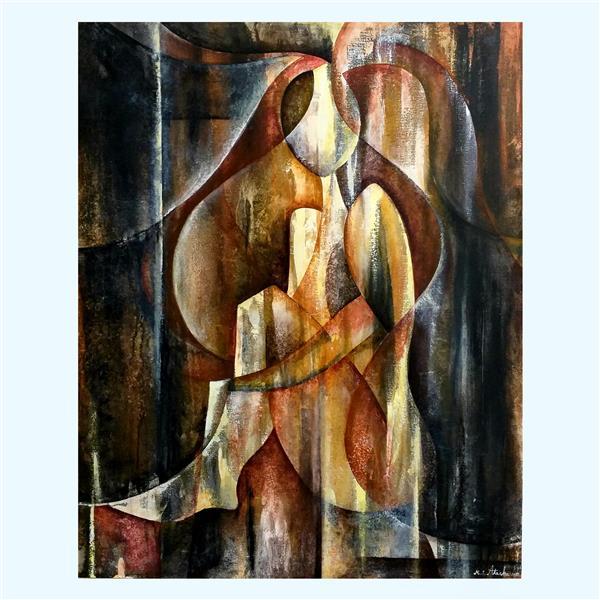هنر نقاشی و گرافیک محفل نقاشی و گرافیک مریم سادات آتشی #نقاشی مدرن #اکرلیک روی بوم  اینستاگرام maryamatashi.art