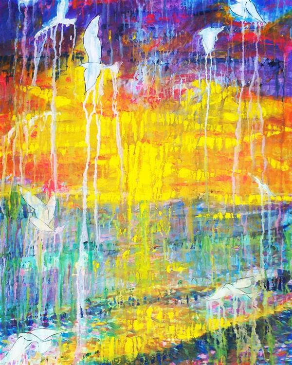 هنر نقاشی و گرافیک محفل نقاشی و گرافیک مریم سادات آتشی #اکرلیک #مدرن #سبک شخصی..#ابعاد ۱۰۰.۷۰