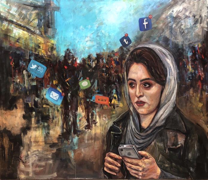 هنر نقاشی و گرافیک محفل نقاشی و گرافیک دل آرام کرمانی  دنیای مجازی  ۱۲۰*۱۵۰