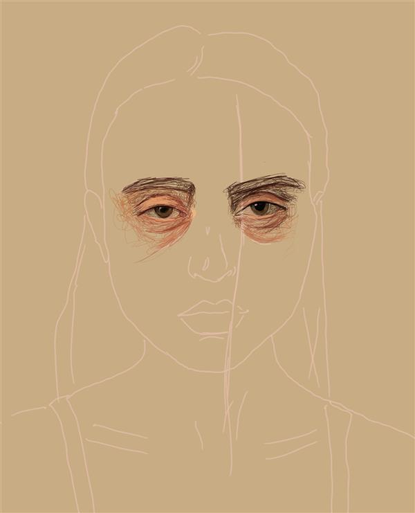 هنر نقاشی و گرافیک محفل نقاشی و گرافیک شمین اعتدال Eyes👀 Digital art Sketchbook/galaxy note 4 چشم ها