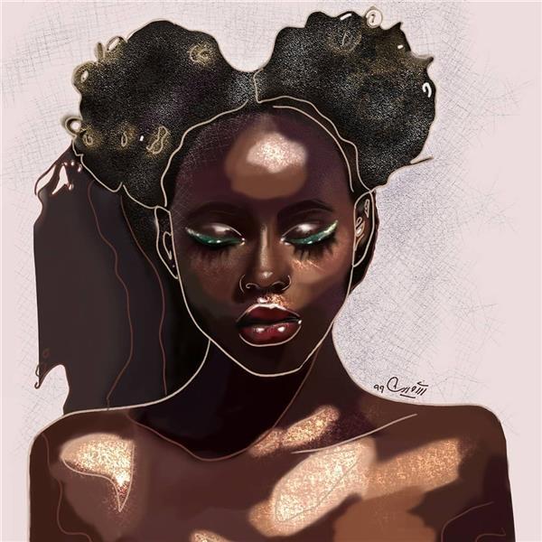 هنر نقاشی و گرافیک محفل نقاشی و گرافیک شمین اعتدال Choclate girl• 👩🏽🦱🍫 🎨Digital art •نقاشی دیجیتال