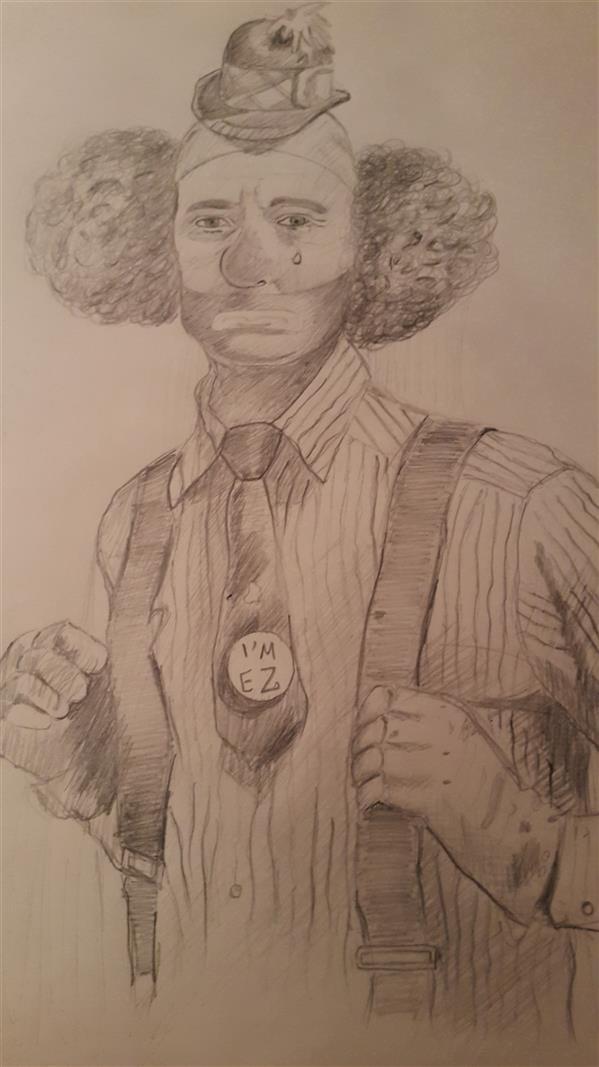هنر نقاشی و گرافیک محفل نقاشی و گرافیک شمین اعتدال دلقک  سیاه قلم