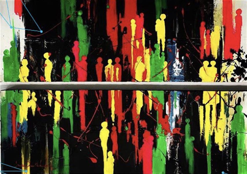 هنر نقاشی و گرافیک محفل نقاشی و گرافیک azita #اکریلیک #نقاشی #مدرن #آزیتاداورخواه