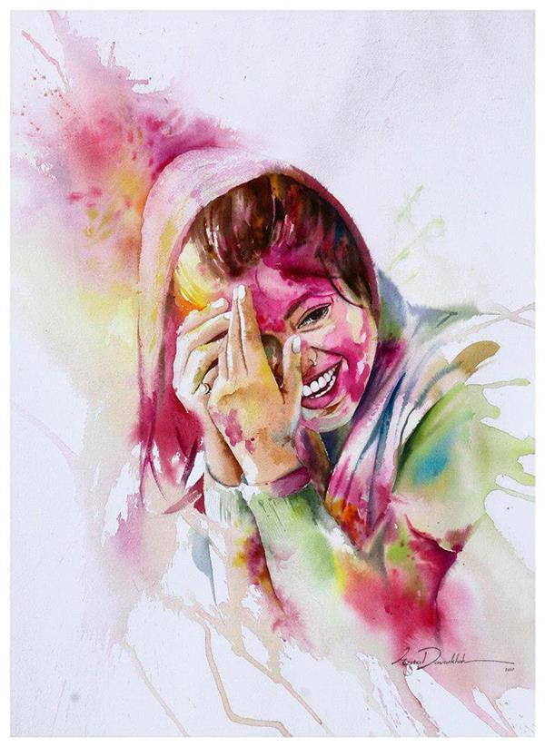 هنر نقاشی و گرافیک محفل نقاشی و گرافیک azita تکنیک آبرنگ