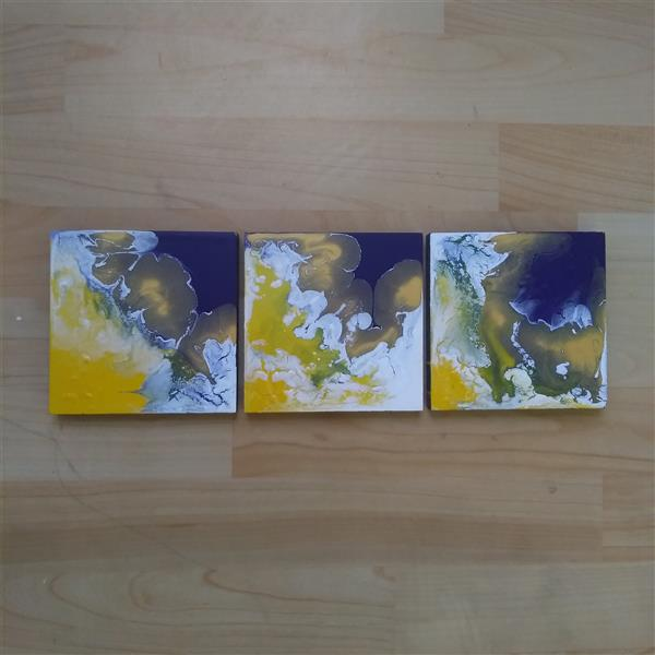 هنر نقاشی و گرافیک محفل نقاشی و گرافیک مهرنوش نوروزی #آبستره #اکریلیک_روی_چوب سایز:14*14 #abstract #acryliconwood Size:14*14