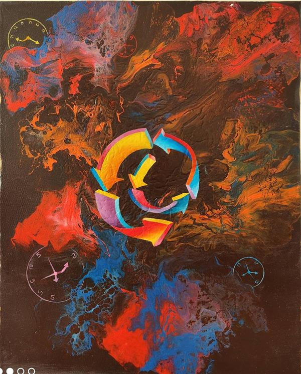 هنر نقاشی و گرافیک محفل نقاشی و گرافیک مهرنوش نوروزی نام اثر: زمان حلزونی سال خلق اثر: ۱۳۹۹ تکنیک: اکریلیک و رنگ روغن روی بوم سبک: سورئال #رنگ_روغن #اکریلیک #سوررئال #اورجینال