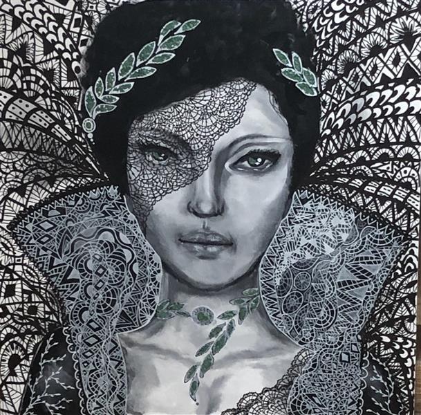 هنر نقاشی و گرافیک محفل نقاشی و گرافیک Laleh molla عنوان :اخرین نگاه اکرولیک .پودر گرانیت #lalehmolla #lalehmolla