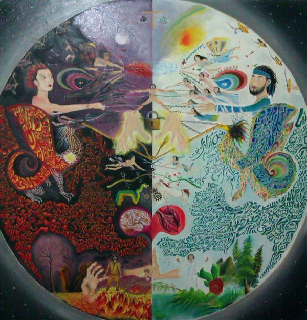 هنر نقاشی و گرافیک محفل نقاشی و گرافیک آرمین مختاری نام : تقابل تکنیک: رنگ_روغن روی بوم سایز 100 در 100