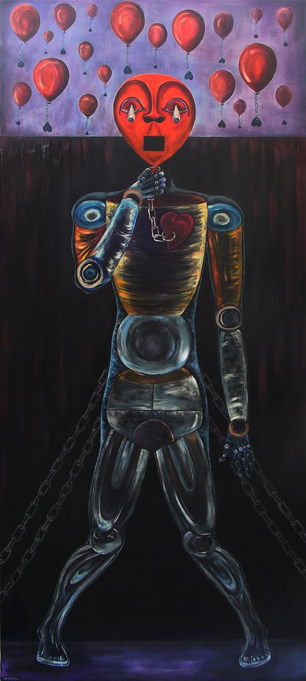 هنر نقاشی و گرافیک محفل نقاشی و گرافیک آرمین مختاری نام : درد سایز 3000 در 150 تکنیک : #رنگ روغن روی بوم