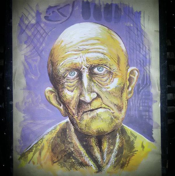 هنر نقاشی و گرافیک محفل نقاشی و گرافیک میلاد صدیق فردا... پیرمردیست با چشم های روشن که تکرار دیروزهایم را آرزو دارد!  #آبرنگ #آب_رنگ