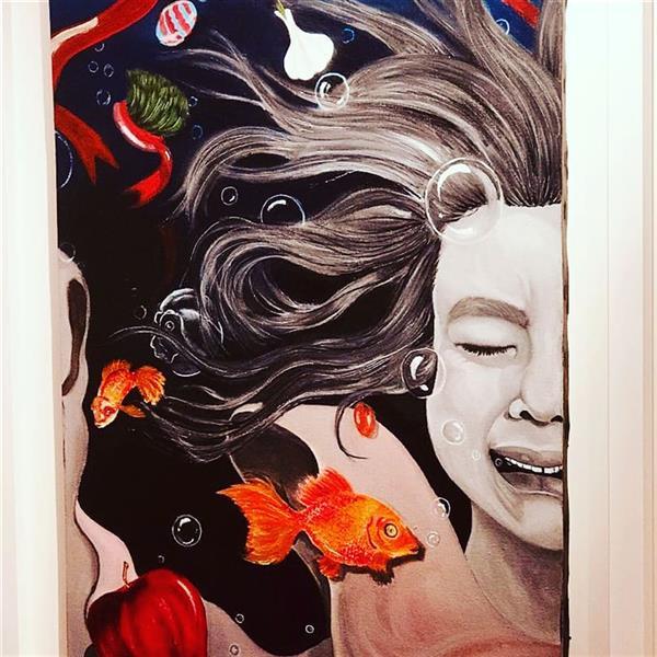هنر نقاشی و گرافیک محفل نقاشی و گرافیک رزا جعفرپور نام اثر:بهار غمگین. رنگ روغن روی بوم ۵۰ در۷۰