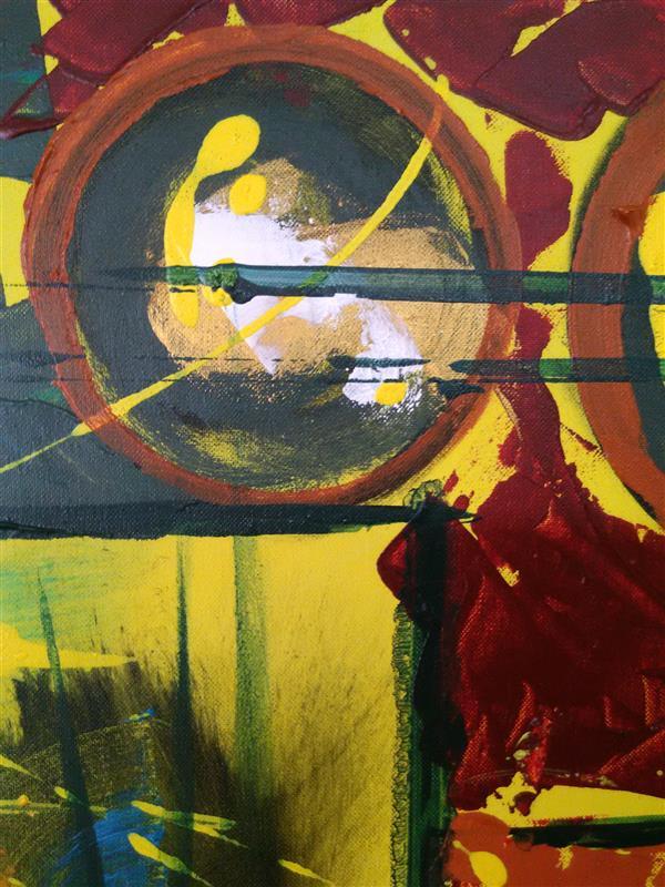 هنر نقاشی و گرافیک محفل نقاشی و گرافیک رویاکارپسند بخشی از تابلوی یک نفر دارد مرا می نویسد  رنگ اکرولیک 70*50