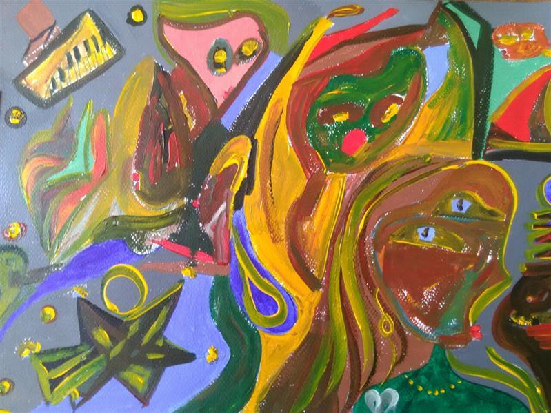 هنر نقاشی و گرافیک محفل نقاشی و گرافیک رویاکارپسند #تکنیک_اکرولیک کاغذفابریانو