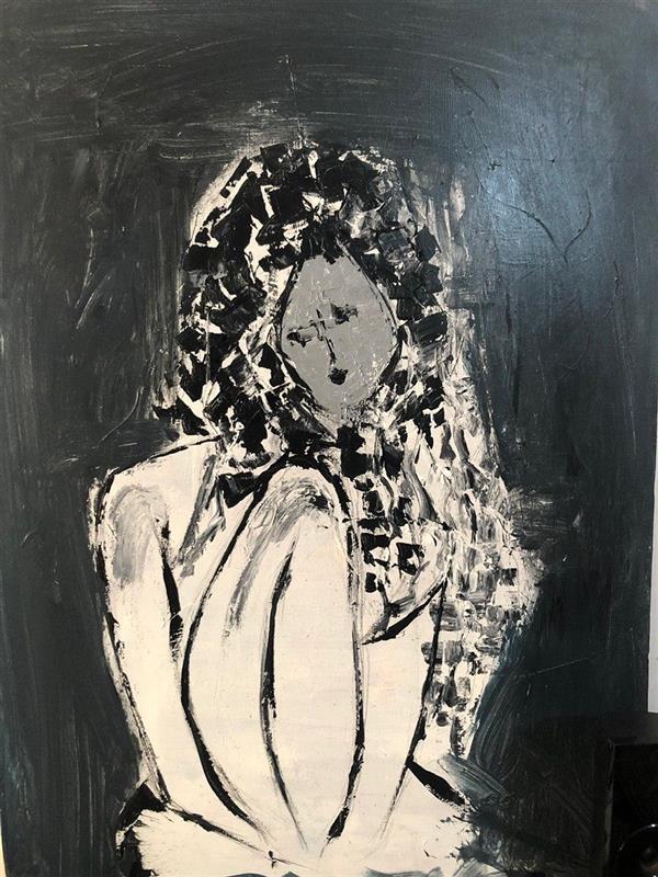 هنر نقاشی و گرافیک محفل نقاشی و گرافیک رویاکارپسند #ابستره_اکرولیک                                                          #دختر